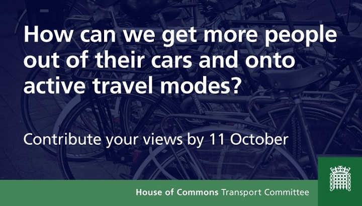 MPs launch inquiry into increasing active travel