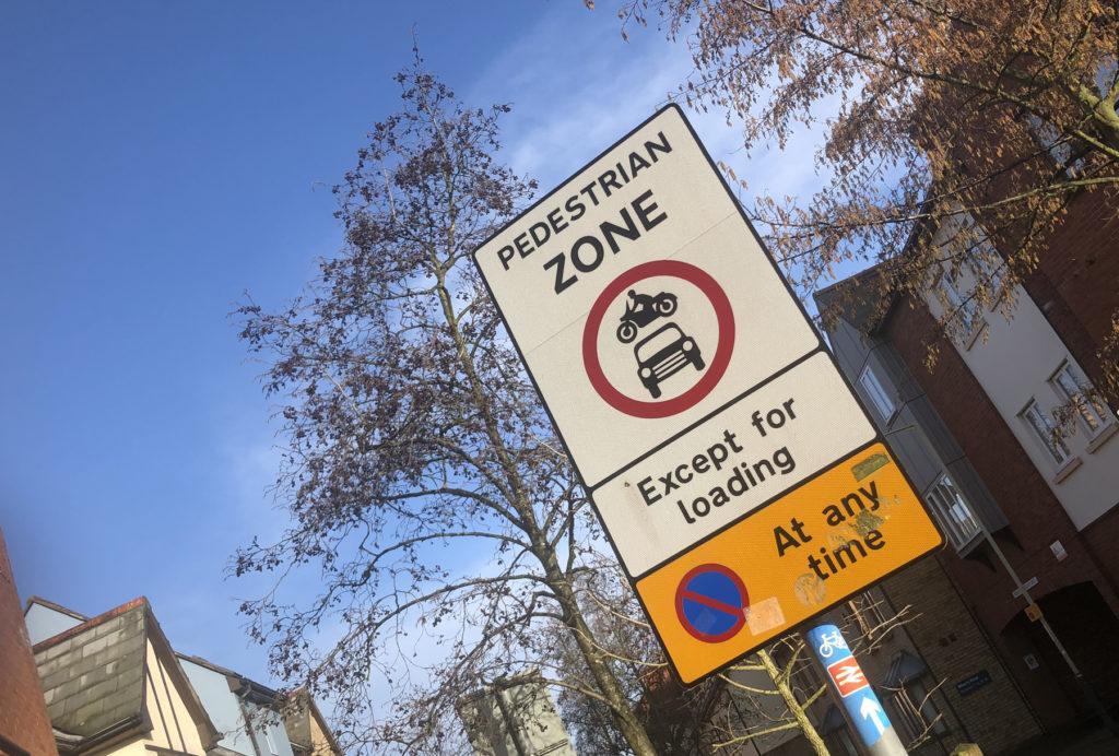 Pedestrian-zone