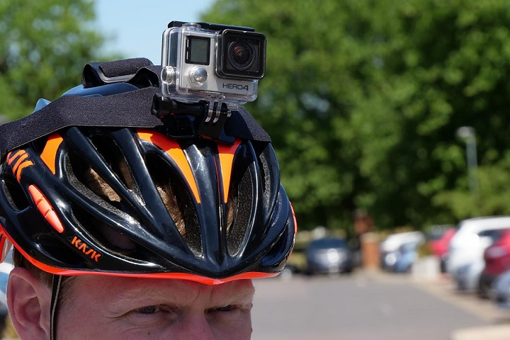 Helmet with camera attached