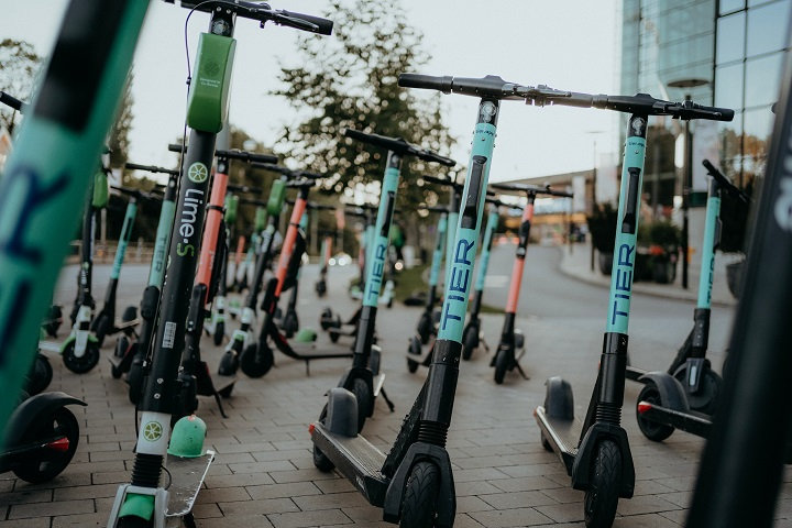 Rental e-scooters